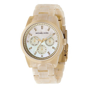 Michael Kors ladies' gold-plated bracelet watch - Product number 8194122