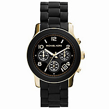 Michael Kors Ladies' Gold Tone & Black Chronograph Watch - Product number 8194181