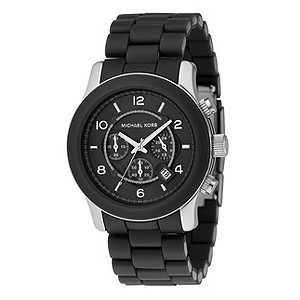 Michael Kors men's black rubber watch - Product number 8194408