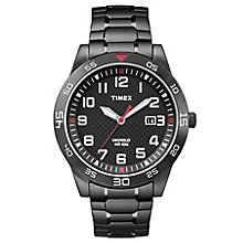 Timex Men's Black Stainless Steel Bracelet Watch - Product number 8194475