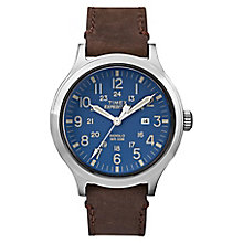 Timex Men's Expedition Scout Brown Leather Strap Watch - Product number 8194947