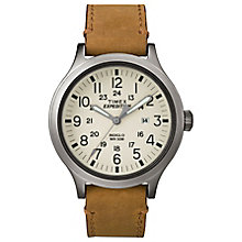 Timex Men's Expedition Scout Tan Leather Strap Watch - Product number 8194955