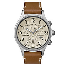 Timex Men's Expedition Scout Brown Leather Strap Watch - Product number 8195137
