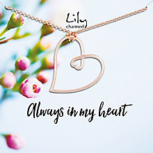 Lily Charmed Rose Gold Plated Heart Necklace - Product number 8195633