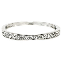 Mikey Silver Tone Cubic Zirconia Crossover Bangle - Product number 8195676