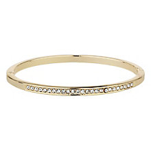 Mikey Gold Tone Cubic Zirconia Bangle - Product number 8195684