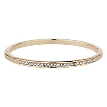 Mikey Rose Gold Tone Cubic Zirconia Bangle - Product number 8195692