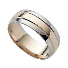 9ct two-colour gold wedding ring - Product number 8198098