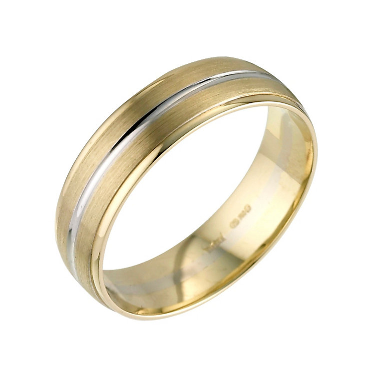18ct two colour gold court wedding ring - Product number 8198438
