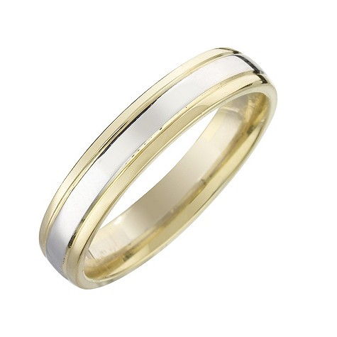 18ct two-colour gold ladies
