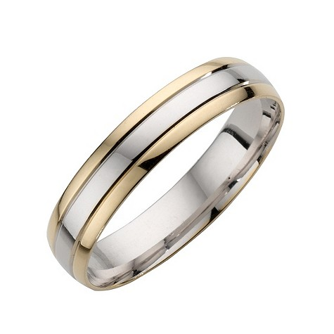 18ct two colour gold striped men