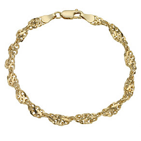 9ct gold cut out twist bracelet 7.5