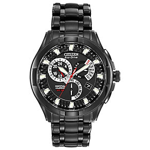 Citizen Eco-Drive men's black chronograph watch - Product number 8199795