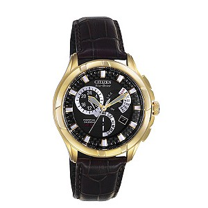 Citizen Eco-Drive men's chronograph black strap watch - Product number 8199841