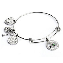 Cailin Cubic Zirconia Claddagh & Heart Bangle - Product number 8199914