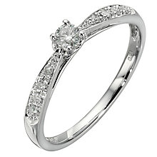9ct white gold 0.25ct diamond solitaire ring - Product number 8204632