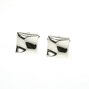 Simon Carter stainless steel warped square cufflinks - Product number 8205205