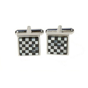 Simon Carter men's checked small square cufflinks - Product number 8205221