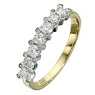18ct yellow & white gold 1/2 ct diamond eternity ring - Product number 8205671