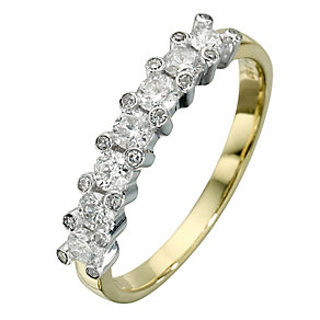 18ct yellow & white gold 0.50ct diamond eternity ring - Product number 8205671
