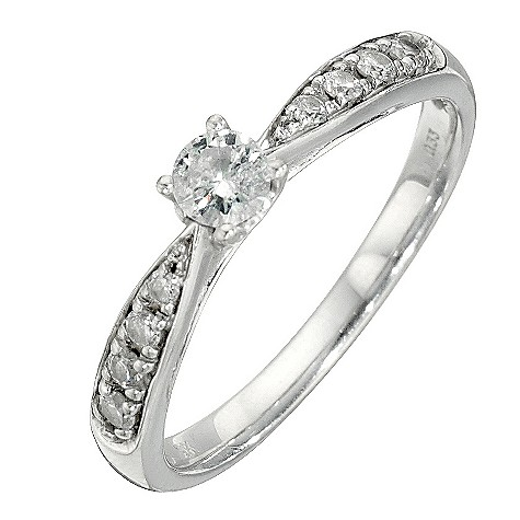 9ct third carat diamond solitaire ring