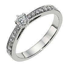 18ct white gold third carat diamond solitaire ring - Product number 8206619