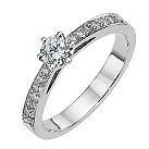 18ct white gold half carat diamond solitaire ring - Product number 8206740