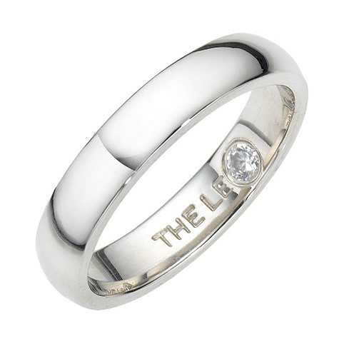 Leo Diamond platinum 5pt diamond wedding ring