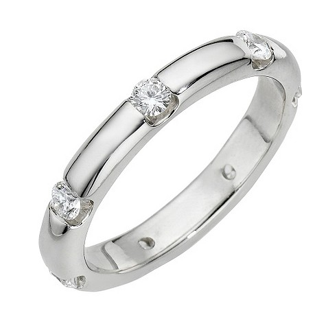 Leo Diamond platinum half carat diamond ring
