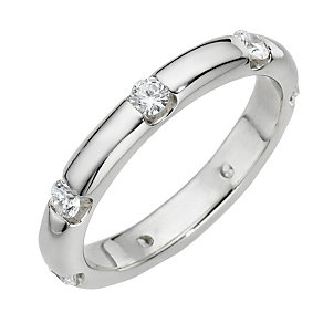 Leo Diamond platinum half carat diamond ring - Product number 8207550