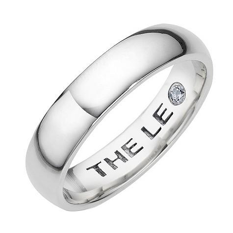 Leo Diamond platinum 5pt wedding ring
