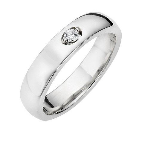 Leo Diamond platinum 9pt wedding ring