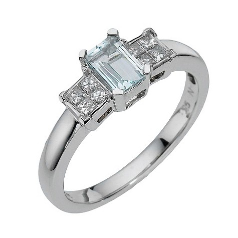 9ct white gold diamond