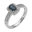18ct white gold quarter carat diamond and sapphire ring - Product number 8210659