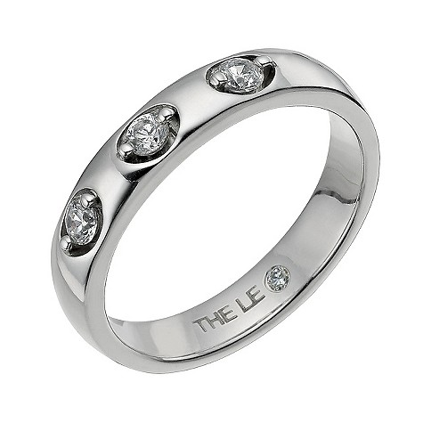 Leo Diamond platinum three stone diamond ring