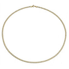 9ct Yellow Gold Small Curb Link Necklace - Product number 8214093