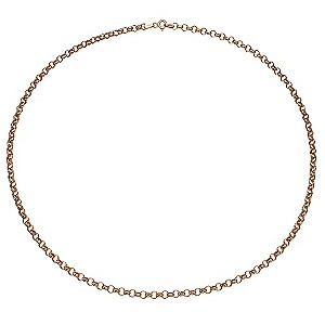 9ct Rose Gold Hollow Link Necklace