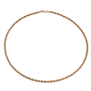 9ct Rose Gold Rope Necklace - Product number 8214158