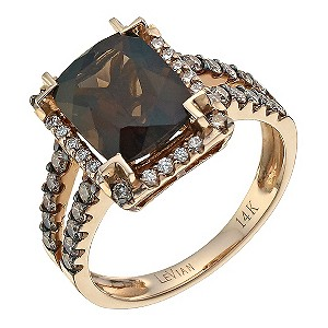 rose gold 0.58 carat diamond & quartz ring - Product number 8214883