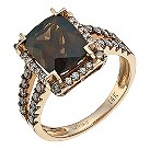 LeVian 14CT Strawberry Gold 0.50CT Diamond & Quartz Ring - Product number 8214883