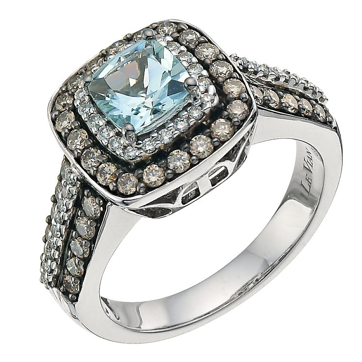 Le Vian 14ct Gold 0 76ct Diamond Amp Sea Blue Aquamarine