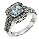 LeVian 14CT Gold 0.76CT Diamond & Aquamarine Ring - Product number 8215286