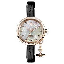 Vivienne Westwood Bow II Ladies' Mother of Pearl Strap Watch - Product number 8215936