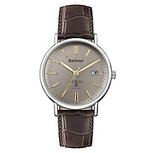 Barbour Bamburgh Men's Grey Stainless Steel Strap Watch - Product number 8216177