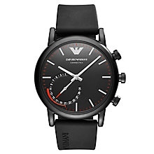 Emporio Armani Connected Men's Black Strap Hybrid Smartwatch - Product number 8216991