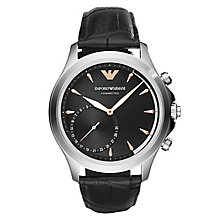 Emporio Armani Connected Men's Black Strap Hybrid Smartwatch - Product number 8217025