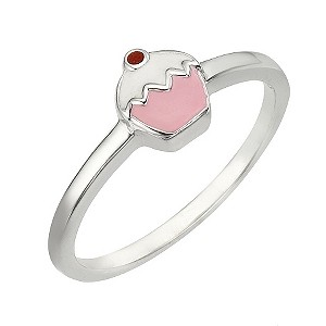 Sterling Silver Cupcake Ring Size H