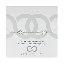 Love x Infinity Silver Tone Clover Bracelet - Product number 8220069
