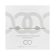 Love x Infinity Silver & Yellow Gold Daisy Bracelet - Product number 8220131