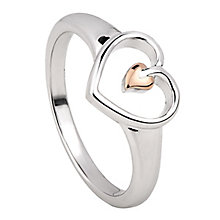 Clogau Silver & Rose Gold Tree of Life Heart Ring - Product number 8220808